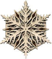 """Сборная деревянная модель """"Вудик. Снежинка"""""""