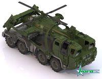 """Машинка """"Военный тягач. Щит"""" (с вертолетом)"""