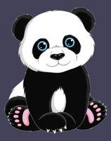 "Картина по номерам ""Панда"" (165х130 мм)"