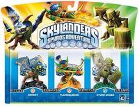 Skylanders. Набор из трех интерактивных фигурок Drobot, Stump Smash, Flameslinger