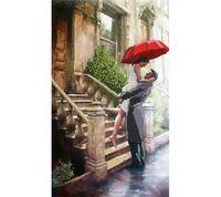 """Канва с нанесенным рисунком """"Под дождем"""""""