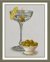 "Вышивка крестом ""Натюрморт с оливками"" (170х280 мм)"