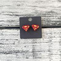 """Серьги """"Супермен"""" (арт. 155)"""