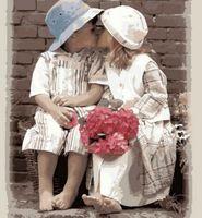 """Картина по номерам """"Первая любовь"""" (500x650 мм; арт. MMC002)"""