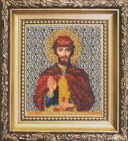 """Вышивка бисером """"Святой блаженный князь Дмитрий"""""""