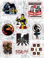 """Набор виниловых наклеек №161 """"Mortal Kombat"""""""