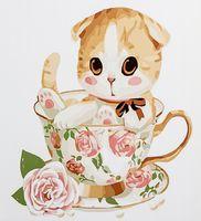 "Картина по номерам ""Котенок в чашке"" (300х300 мм; арт. PC3030004)"