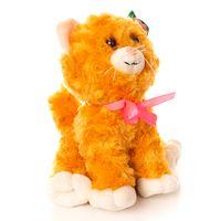 """Мягкая игрушка """"Котик с цветком"""" (14 см)"""