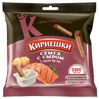 "Сухарики ржаные ""Кириешки"" (60 г; соус тар-тар и семга с сыром)"