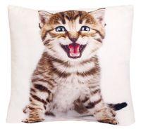 """Подушка """"Котёнок"""" (35x35 см; белая)"""