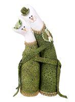 """Набор для шитья из ткани """"Коты-обнимашки. Изумрудные"""""""
