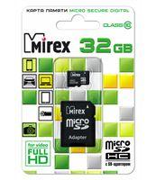 Карта памяти microSDHC 32GB Mirex (с адаптером)