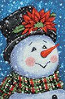 """Алмазная вышивка-мозаика """"Нарядный снеговик"""" (200х300 мм)"""