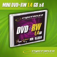 Диск DVD+RW 8см 1.46Gb 4x Esperanza Slim (5 штук)