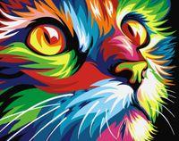 "Картина по номерам ""Радужный кот"" (165х130 мм)"