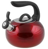 Чайник металлический со свистком (2,7 л; красный металлик)