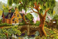"Картина по номерам ""Домик у моста"" (400x500 мм; арт. MG161)"