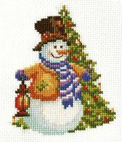 """Вышивка крестом """"Снеговик-2"""""""