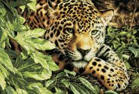 """Вышивка крестом """"Леопард"""" (300х400 мм)"""