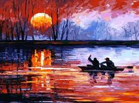 """Картина по номерам """"Рыбалка на закате"""" (300х400 мм)"""