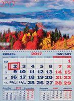 """Календарь квартальный на 2017 год """"Природа. Великолепный пейзаж"""""""