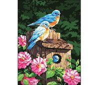 """Картина по номерам """"Птицы в скворечнике"""" (400x500 мм)"""
