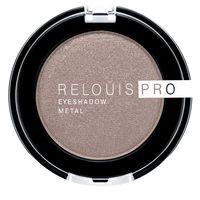"Тени для век ""Relouis Pro Eyeshadow Metal"" (тон: 52, cocoa milk)"