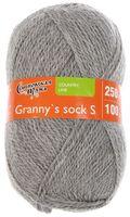 """Пряжа """"Семеновская. Granny`s sock S №910"""" (100 г; 250 м; светло-серый)"""