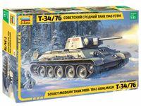 """Сборная модель """"Советский средний танк Т-34/76 1943 УЗТМ"""" (масштаб: 1/35)"""