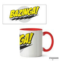 """Кружка """"Bazinga. Теория большого взрыва"""" (арт. 093, красная)"""