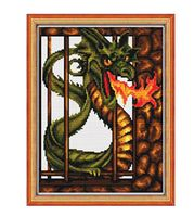 """Вышивка крестом """"Железный дракон"""""""