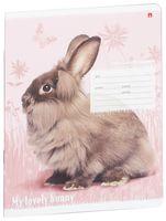 """Тетрадь в клетку """"Милые крольчата"""" (12 листов; в ассортименте)"""
