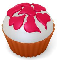 """Форма для изготовления мыла """"Кейк верхушка. Сердечки"""""""