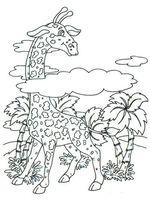 """Картина из песка """"Жираф"""" (210х290 мм)"""