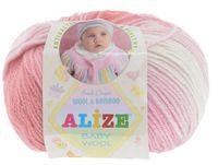 "Пряжа ""ALIZE. Baby Wool Batik Design №3565"" (50 г; 165 м)"