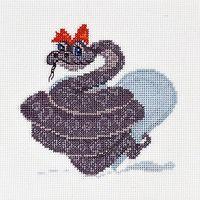 """Вышивка крестом """"Змеюшка"""" (110х110 мм)"""
