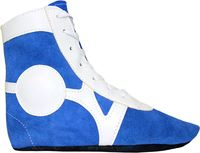 Обувь для самбо SM-0101 (р.34; замша; синяя)