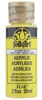 "Краска акриловая ""FolkArt. Acrylic Paint"" (лимонно-желтый; 59 мл; арт. PLD-00521)"
