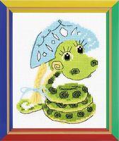 """Вышивка крестом """"Новогодняя змейка"""""""