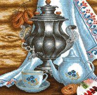 """Вышивка крестом """"Чай с баранками"""""""