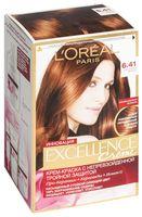 """Крем-краска для волос """"Excellence"""" (тон: 6.41, медный темно-русый пепельный)"""