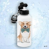 "Бутылка для воды ""Корги"" (600 мл; арт. 082)"