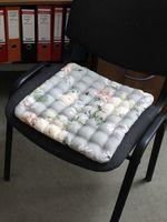 """Подушка на стул """"Concept Ecology. Цветы на Сером"""" (40х40 см)"""