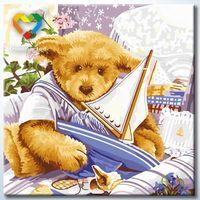 "Картина по номерам ""Любимые игрушки"" (400x400 мм; арт. HB4040041)"