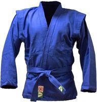 Куртка для самбо JS-302 (р. 2/150; синяя)