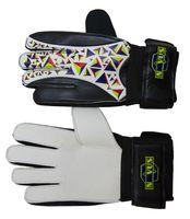 Перчатки вратарские NOVUS NFG-01 (р. M; черно-белые)