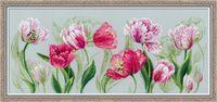 """Вышивка крестом """"Весенние тюльпаны"""" (700х300 мм)"""