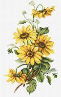 """Вышивка крестом """"Желтые цветы"""" (175х305 мм)"""