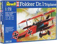 "Сборная модель ""Самолет Fokker Dr. 1 Triplane"" (масштаб: 1/72)"