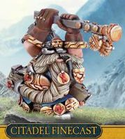 """Миниатюра """"Warhammer FB. Finecast: Dwarf Runelord with Great Weapon"""" (84-61)"""